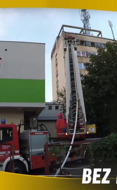 """Pożar """"Przemysłówki"""" akcja gaśnicza 2.08.2016 r"""